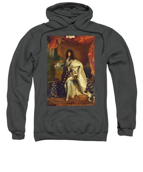 Louis Xiv In Royal Costume, 1701 Oil On Canvas Sweatshirt