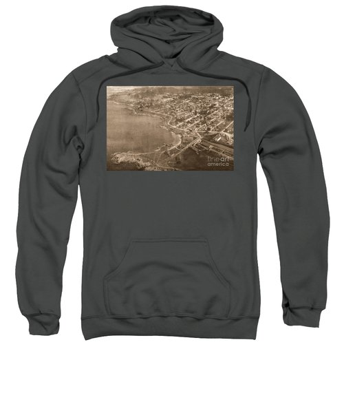 Aerial Of Lovers Point And Pacific Grove California July 10 1906 Sweatshirt