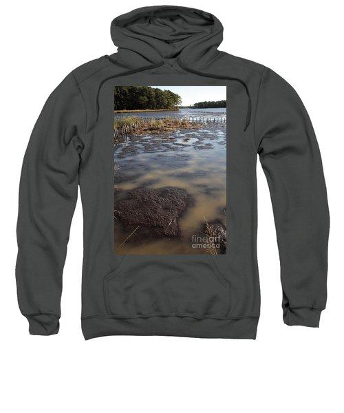 Low Tide At Blackwater Wildlife Refuge In Maryland Sweatshirt