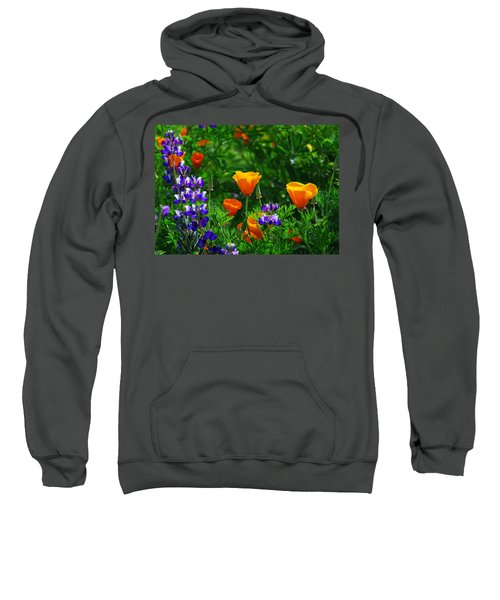 Lupines And Poppies Sweatshirt