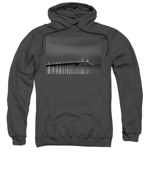 Mackinac Bridge Black And White Sweatshirt