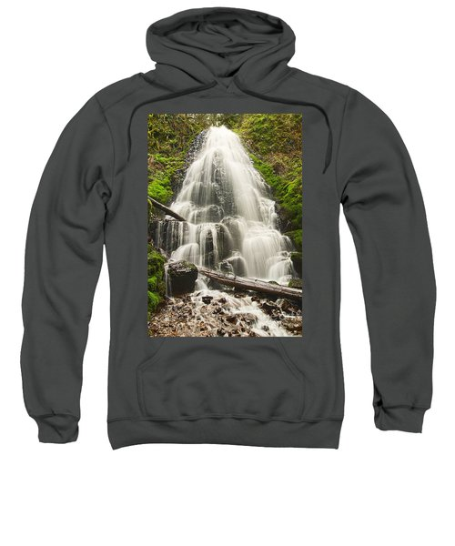Magical Falls - Fairy Falls In The Columbia River Gorge Area Of Oregon Sweatshirt