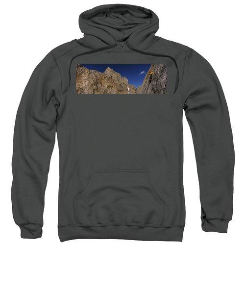 Man Climbing Up A Mountain, Grand Sweatshirt