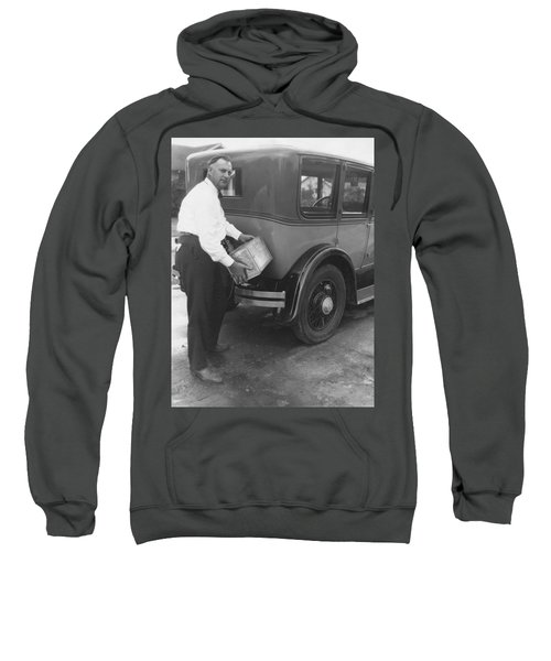 Man Filling Car With Fuel Sweatshirt