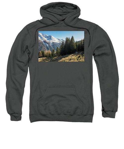 Man Trail Running In The Mountains Sweatshirt