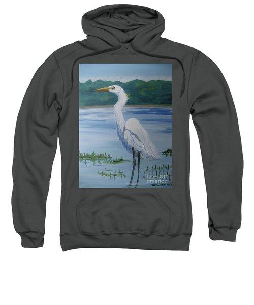 Marsh Land Egret Sweatshirt