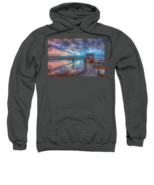 Melvin Village Marina In The Fog Sweatshirt