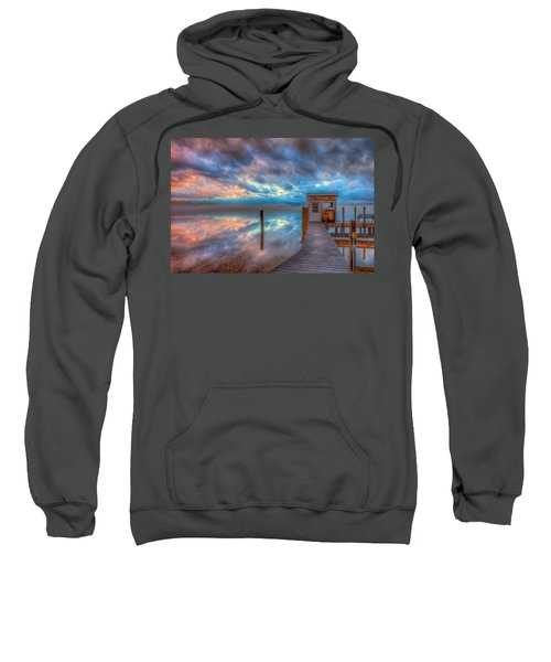 Melvin Village Marina In The Fog Sweatshirt