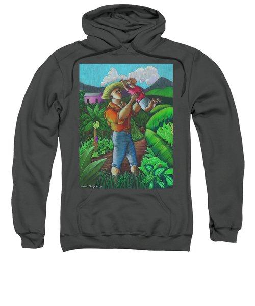 Sweatshirt featuring the painting Mi Futuro Y Mi Tierra by Oscar Ortiz