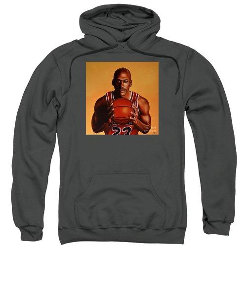 Michael Jordan 2 Sweatshirt by Paul Meijering