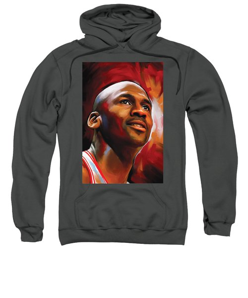 Michael Jordan Artwork 2 Sweatshirt by Sheraz A