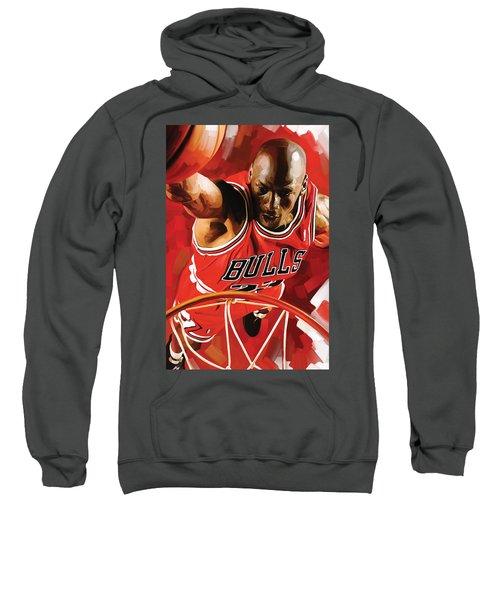 Michael Jordan Artwork 3 Sweatshirt by Sheraz A