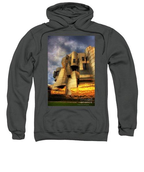 Minneapolis Skyline Photography Weisman Museum Sweatshirt by Wayne Moran