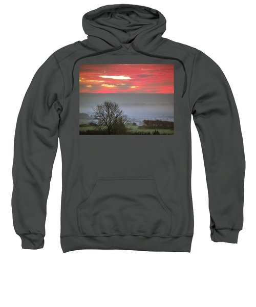 Sweatshirt featuring the photograph Misty Morning Sunrise Over Western Ireland by James Truett