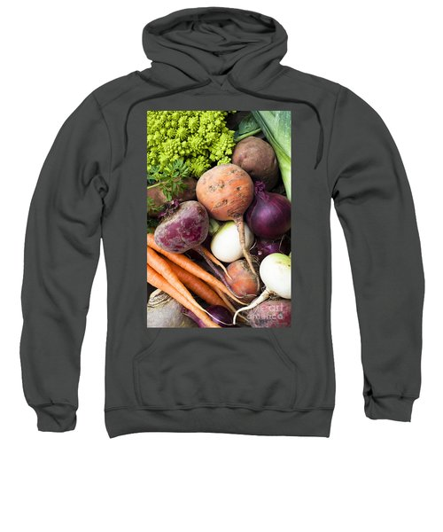 Mixed Veg Sweatshirt by Anne Gilbert