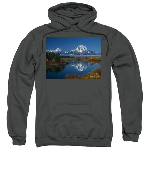 Morning Cloud Layer Oxbow Bend In Fall Grand Tetons National Park Wyoming Sweatshirt