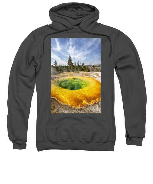 Morning Glory Pool In Yellowstone National Park Sweatshirt
