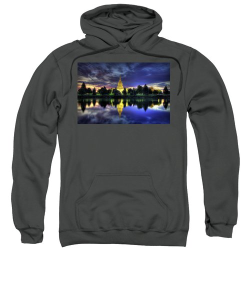 Morning Reflections Of Idaho Falls Temple  Sweatshirt