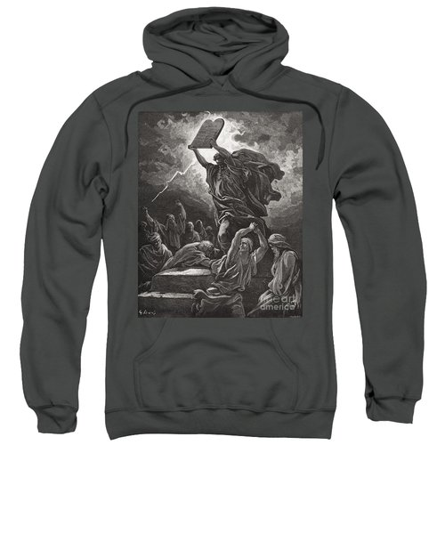 Moses Breaking The Tablets Of The Law Sweatshirt