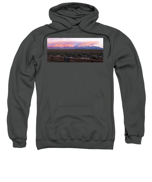 Mountain Range Viewed From A Adobe Sweatshirt