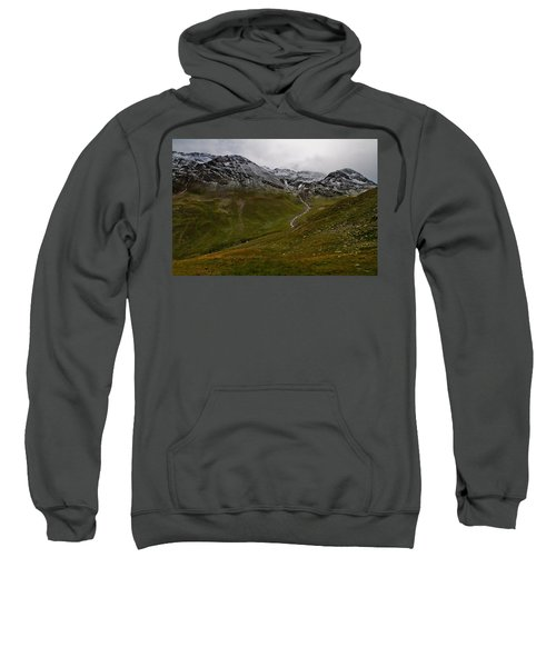 Mountainscape With Snow Sweatshirt