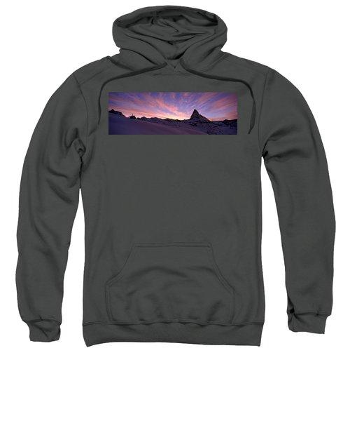 Mt Matterhorn At Sunset, Riffelberg Sweatshirt