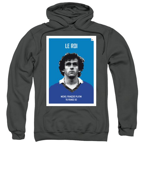 My Platini Soccer Legend Poster Sweatshirt by Chungkong Art