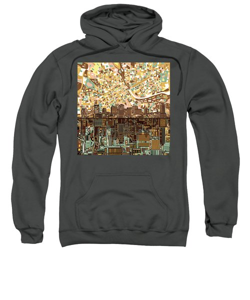 Nashville Skyline Abstract 4 Sweatshirt by Bekim Art
