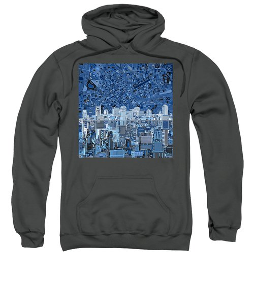 Nashville Skyline Abstract Sweatshirt by Bekim Art
