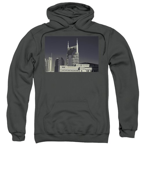 Nashville Tennessee Batman Building Sweatshirt by Dan Sproul