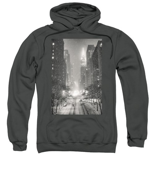 New York City - Winter Night Overlooking The Chrysler Building Sweatshirt