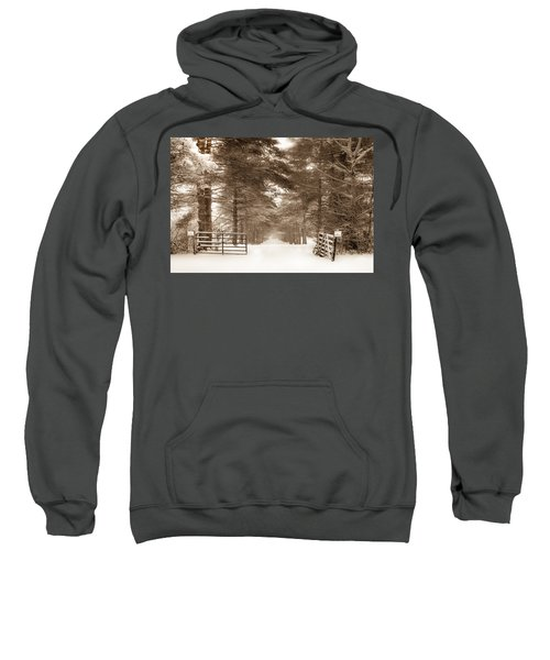 No Trespassing - Sepia Sweatshirt