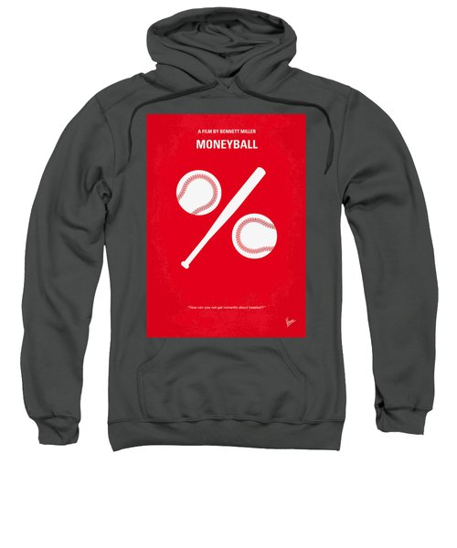 No191 My Moneyball Minimal Movie Poster Sweatshirt