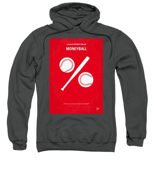 No191 My Moneyball Minimal Movie Poster Sweatshirt