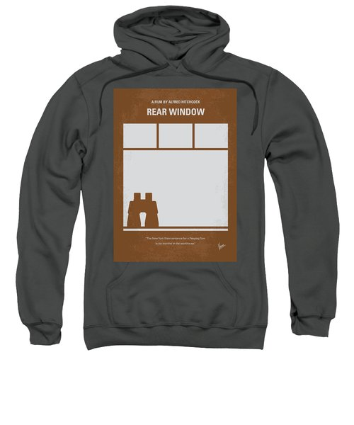 No238 My Rear Window Minimal Movie Poster Sweatshirt by Chungkong Art
