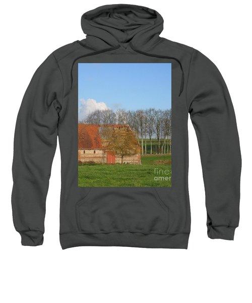 Normandy Storm Damaged Barn Sweatshirt