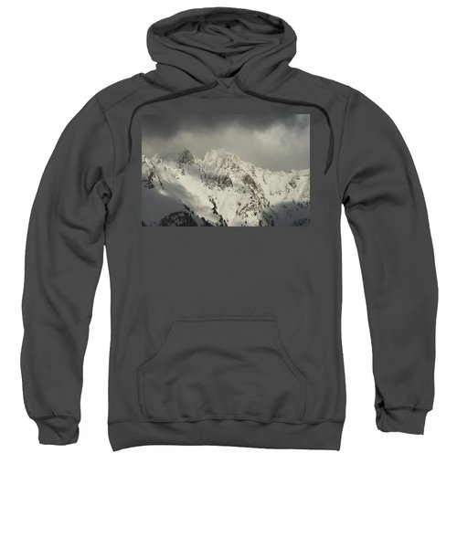 Sweatshirt featuring the photograph North Cascades Mountains In Winter by Yulia Kazansky