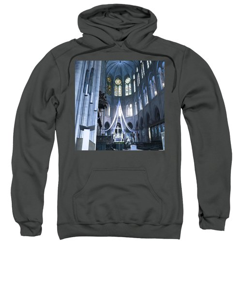 Notre Dame Altar Teal Paris France Sweatshirt