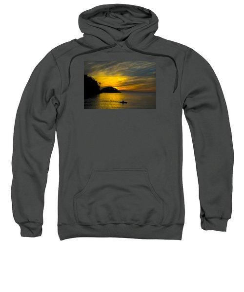 Sweatshirt featuring the photograph Ocean Sunset At Rosario Strait by Yulia Kazansky