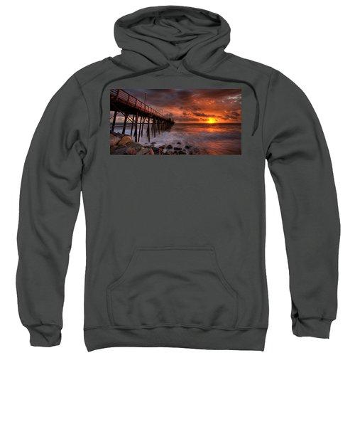 Oceanside Pier Perfect Sunset -ex-lrg Wide Screen Sweatshirt