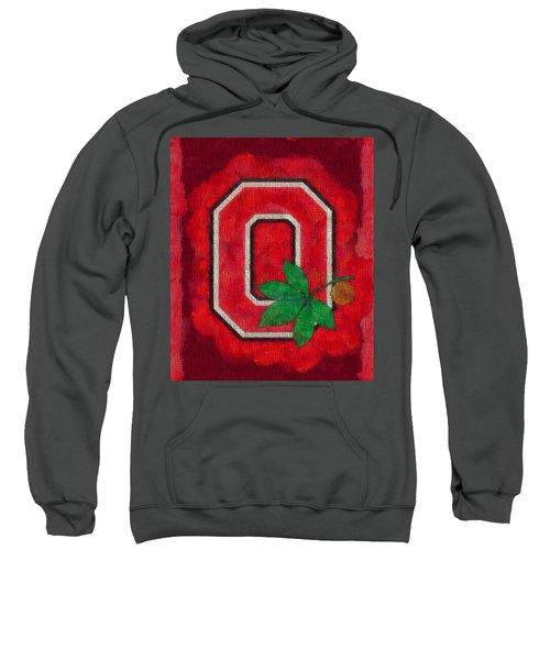 Ohio State Buckeyes On Canvas Sweatshirt