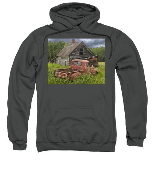 Old Abandoned Homestead And Truck Sweatshirt
