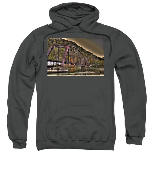 Sweatshirt featuring the photograph Old Bridge Over Lake by Jonny D