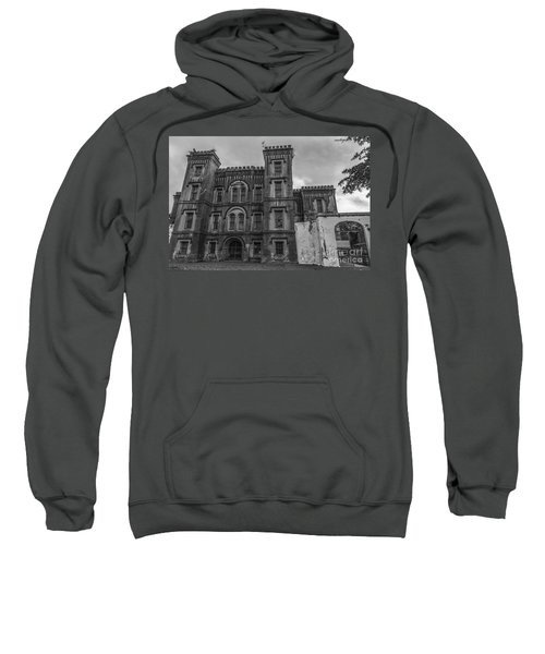 Old City Jail In Black And White Sweatshirt