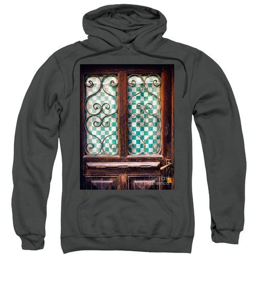 Sweatshirt featuring the photograph Old Door by Silvia Ganora