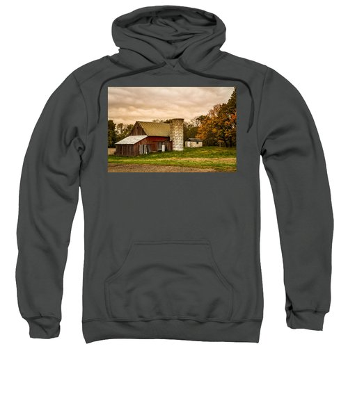 Old Red Barn And Silo Sweatshirt