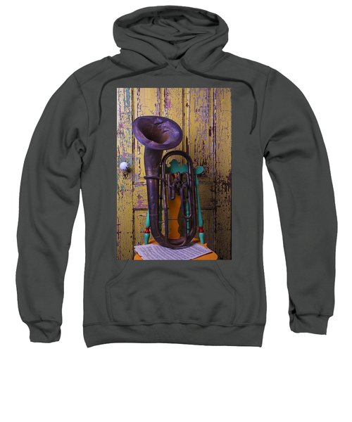 Old Tuba And Yellow Door Sweatshirt
