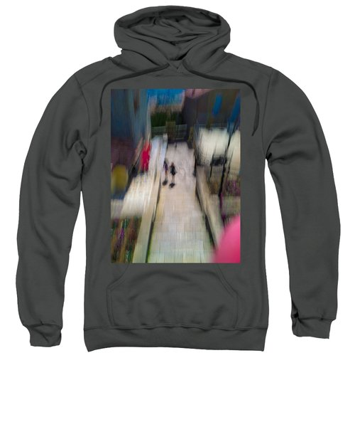 Sweatshirt featuring the photograph On The Stairs by Alex Lapidus