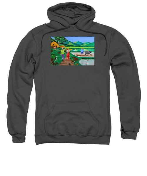 One Beautiful Morning In The Farm Sweatshirt by Cyril Maza
