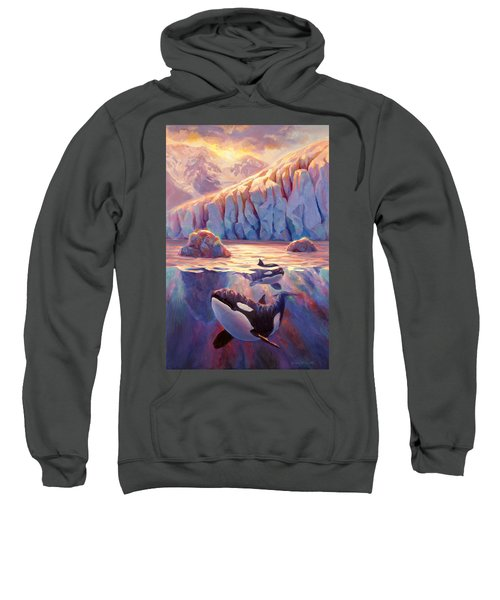 Orca Sunrise At The Glacier Sweatshirt